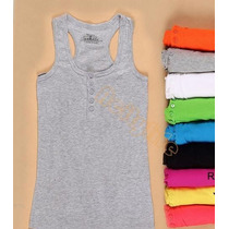 Regata Camiseta Canelada Blusa Importada - Estoque