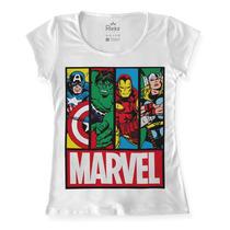 T-shirt Marvel Vingadores - Blusa Feminina