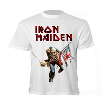 Camiseta Banda Iron Maiden - Camisa Eddie, The Trooper