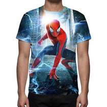 Camisa, Camiseta O Espetacular Homem Aranha 2 Estampa Total