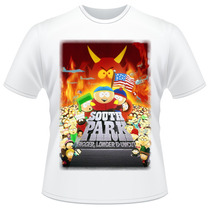 Camiseta South Park Bigger Longer & Uncut Filme Camisa