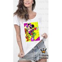 Camiseta Blusa T-shirts Minnie Colorida Fashion Dance Festa