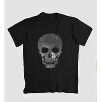 Camiseta Caveira Em Strass (spikes, Tacha) - Exclusiva Linda
