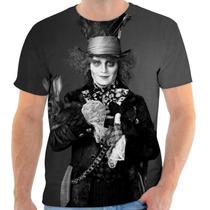 Camiseta Chapeleiro Maluco Pais Das Maravilhas Personalizada