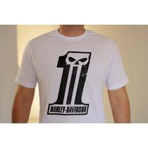 Camiseta Harley Davidson Número 1 Skull Motociclista Custom