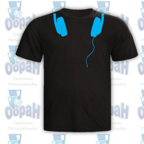 Camisetas Personalizadas Engraçadas Promoção Fone