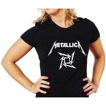 Camisa Baby Look Metallica Feminina Camiseta Banda Rock