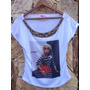 Tshirt Barbie Chanel Pedraria Bordada Customizada Camiseta