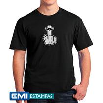 Camisetas Dedo Do Meio Bigode 2374