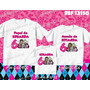 Kit Camisetas Personalizada Aniversario Festa Monster High