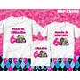 Lembrança De Aniversario Monster High Kit Camisetas C/ 3
