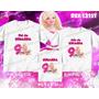 Kit Camisetas Personalizada Aniversario Festa Barbie