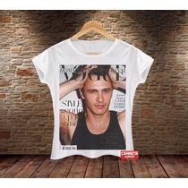 Camiseta Feminina Babylook Camisa James Franco Vogue Selfie