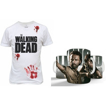 Kit Camisetas + Caneca The Walking Dead Presente