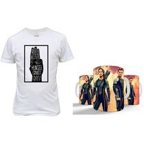 Kit Camisetas+caneca Jogos Vorazes Presente