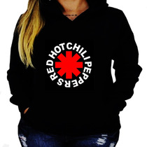 Blusa Moletom Red Hot Chili Peppers Unissex Capuz Bolso Rhc