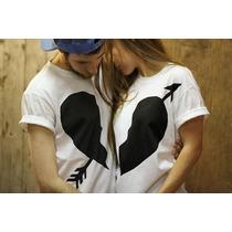 Camisetas Namorados Amor Love Casal Kit Baby Look E Camiseta