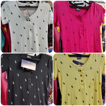 Blusinha Polo Babylook Camiseta Feminina