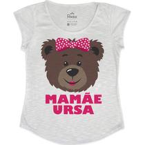 Kit Tshirt Feminina 02 Peças - Mamãe E Filha Ursa