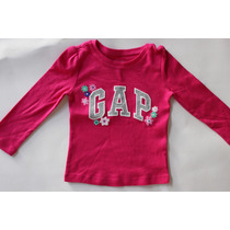 Camiseta Manga Longa Infantil Gap Original -2, 3, 4, 5 Anos