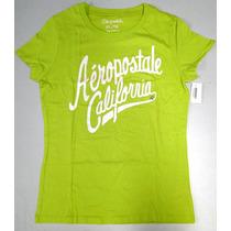 Camiseta Aeropostale Verde - Só Roupas Femininas Originais
