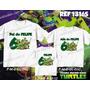 Lembrança De Aniversario Tartarugas Ninja Kit Camisetas C/ 3