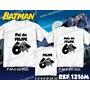 Lembrança De Aniversario Batman Kit Camisetas C/ 3