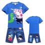Conj. George Pig Meninos Jeans - Peppa Pig - Pronta Entrega