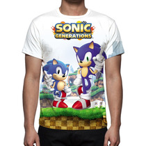 Camisa, Camiseta Game Sonic Generations - Estampa Total