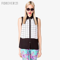 Camisa Blusa Regata Forever 21 Com Estampa Em Quadrados