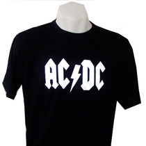 Camiseta Acdc Bandas Rock Ramones Metalica Duff Beer Vodka