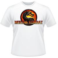 Camiseta Mortal Kombat Fatality Branca Video Game Camisa