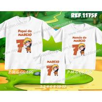 Lembrança De Aniversario Naruto Kit Camisetas C/ 3