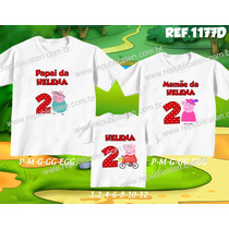 Lembrança De Aniversario Peppa Pig George Kit Camisetas C/ 3