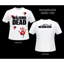 Camisa The Walking Dead Masc/infantil Baby Look Frente Verso