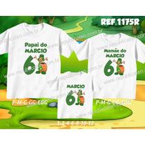 Lembrança De Aniversario Chaves Kit Camiseta C/ 3