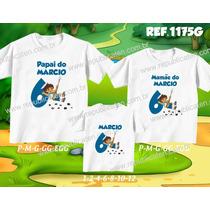 Lembrança De Aniversario Do Diego Go Dora Kit Camisetas C/ 3