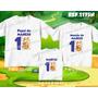 Lembrança De Aniversario Garfield Gato Kit Camiseta C/ 3