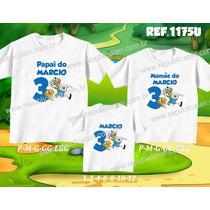 Lembrança De Aniversario Hora Da Aventura Kit Camisetas C/ 3