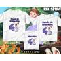 Lembrança De Aniversario Princesa Sofia Kit Camisetas C/ 3