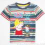 Camiseta Infantil Listrada Peppa Pig - George
