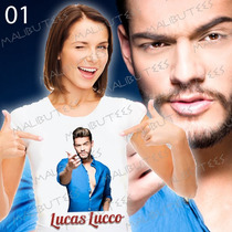 Luccas Lucco Camiseta Baby Look Cantor Romantico Mozão Blusa