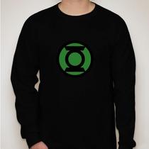 Camiseta Manga Longa Lanterna Verde- Símbolo