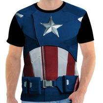 Camisa, Camiseta Capitão America, Super Heroi - 02 - Front