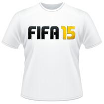 Camiseta Fifa 15 2015 Branca Video Game Camisa