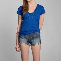 Camiseta Feminina Abercrombie Casaco Blusa Frio Hollister