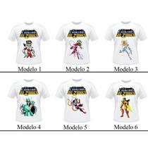 Camiseta Os Cavaleiros Do Zodiaco Adulto E Infantil