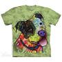 Camiseta Russo Green Joy The Mountain. Estoque No Brasil