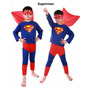 Fantasia Infantil Super Homem Ou Homem Aranha Tamanhos P M G