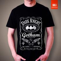 Camisetas Batman Herois Homem Morcego Dc Comic Jack Daniel
